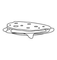 Pancakes icon outline style vector