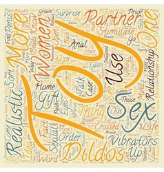 Sex toys women text background wordcloud concept vector