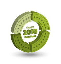 three dimensional new year infographics elements vector image