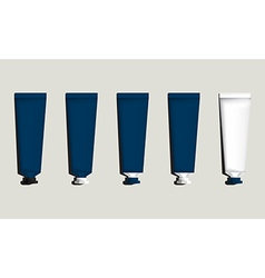 Tubes for packaging blue set vector image vector image