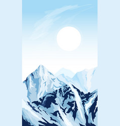 vertical mountain background vector image