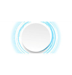 white and blue grunge circle frame label vector image