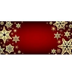 Winter red background vector image