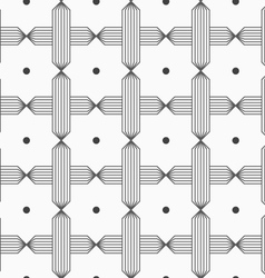 Slim gray hatched crosses reticulated vector