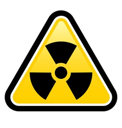 Warning radiation sign vector