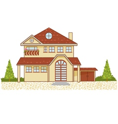 Icon of a luxury cottage isolated eps10 vector