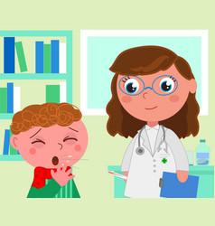 Pediatrician medical office vector