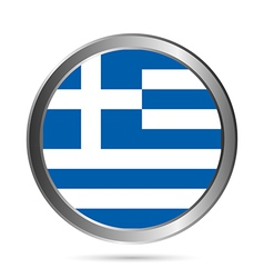 Greece flag button vector