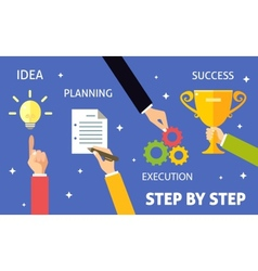 Business steps concept vector