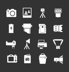 Set icons of photo vector