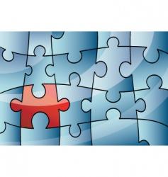 puzzle design background vector image