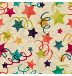 Seamless pattern with stars and serpentine on vector