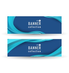 Site wave abstract banner vector image
