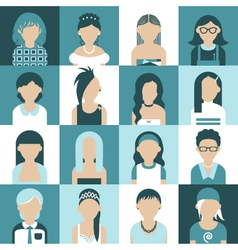 Women icon set vector