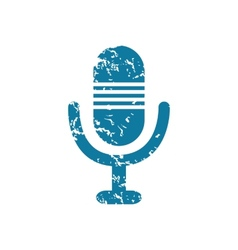 Grunge microphone icon vector
