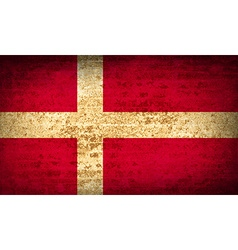 Flags denmark with dirty paper texture vector
