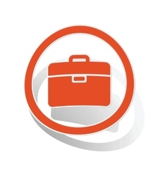 Briefcase sign sticker orange vector
