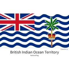 National flag of british indian ocean territory vector