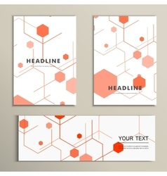 Modern hexagon design background vector