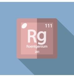 Chemical element roentgenium flat vector