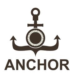 Anchor symbols badge vector image vector image