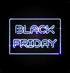 Black friday light frame advertising design vector