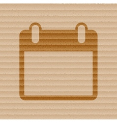 Calendar Flat modern web button and space for your vector image vector image