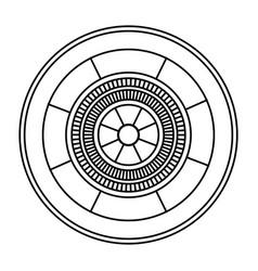Casino gambling roulette wheel game image outline vector