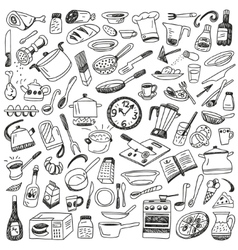 Cookery - doodles collection vector image
