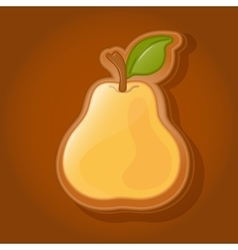 Cookies in the shape of a pear vector image