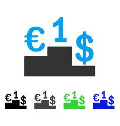 Currency competition flat icon vector