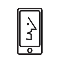 Face recognition on the phone vector