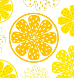 lemon yellow slices vector image