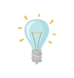 Light bulb icon in falt style vector image