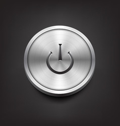Metal Power Button vector image vector image