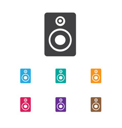 of audio symbol on music vector image