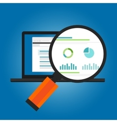 online ads conversion number analytic website vector image