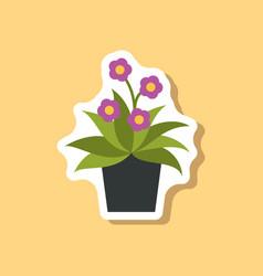 Paper sticker on stylish background chrysanthemums vector