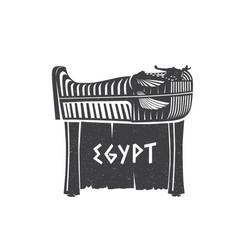 pharaoh egyptian ancient symbol vector image
