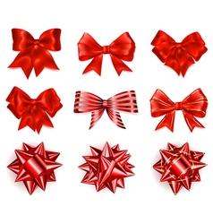 Set of beautiful big bows vector image vector image
