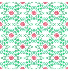 Watercolor seamless pattern with vintage floral vector image vector image