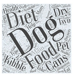 Your Dogs Diet Canned or Dry Word Cloud Concept vector image vector image