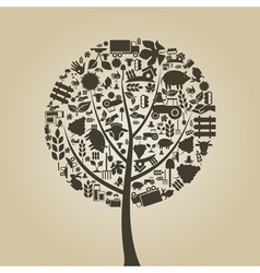 Tree agriculture vector