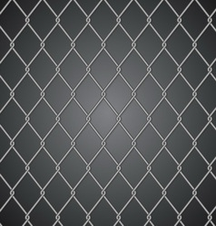 Metal fence on dark background vector image