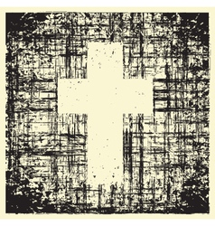 Grunge cross vector