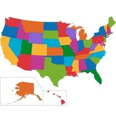 Colorful USA map vector image