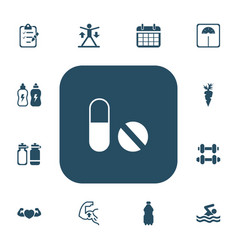 Set of 13 editable sport icons includes symbols vector