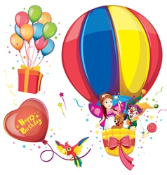 Birthday balloon set vector