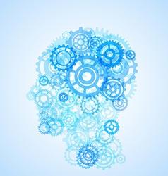 Human head shape model creative vector image