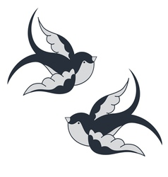 Two swallows vector